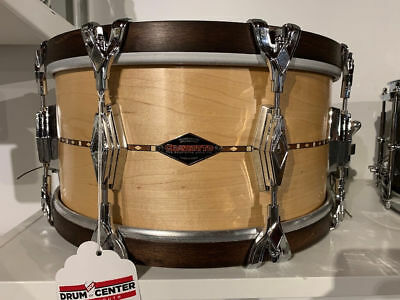 Used Craviotto Solid Ply Maple Snare Drum 14x7 w/Walnut Hoops