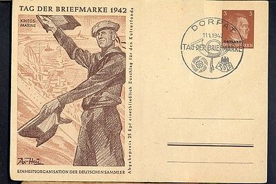 Germany(Ostland), 1942, Unused illustrated post card Nr: 1 with special cancel