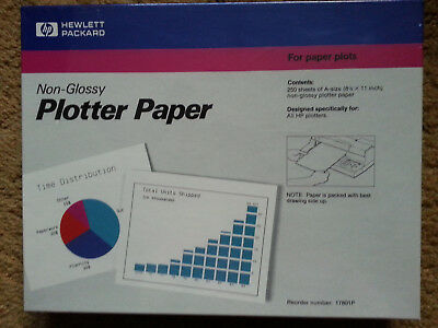 """New SEALED Hewlett Packard Non-Glossy Plotter Paper (8.5"""" x 11"""") 250*3=750 pages"""