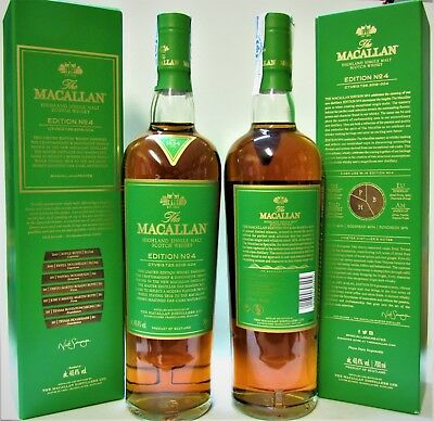 1 x The MACALLAN ♦ EDITION Nº 4 ♦ 70 cl, ♦ LIMITED EDITION ♦ Gift Box