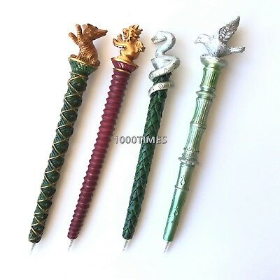 4 PC Harry Potter Hogwarts Houses Pen Gryffindor Hufflepuff  Ravenclaw Slytherin