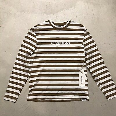 e002f77e0d03e Sean Wotherspoon x Guess x Complexcon Striped Long Sleeve Tan Size Medium