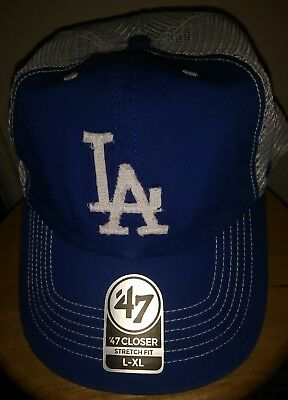 wholesale dealer 757a1 320f6 ... discount la dodgers cap mlb los angeles hat 47 closer relax flex mesh  mens adult l