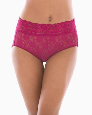 a76cafd48930 Soma Embraceable Allover Lace Modern Brief Panties In Cranberry Size Xl New