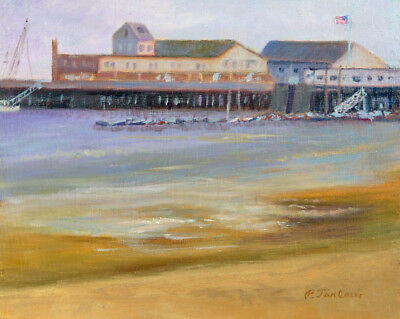CAPE COD ART, P-TOWN FISHERMAN'S WHARF PRINT from Oil Painting by P. Tarlow