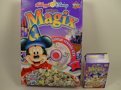 Kelloggs Mickey's Magix Cereal Box Only with Music CD Premium + Sample Size