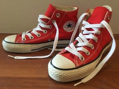Vintage Red Converse All Star Chuck Taylor Hi Top Shoes New