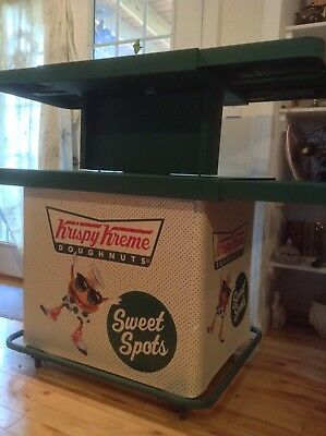 Krispy Kreme Display Rolling Cart for bakery, grocery store, collectible