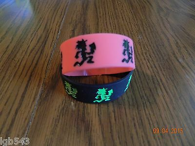 NEW-INSANE CLOWN POSSE  Hatchet man rubber wristbands/ one of each (2-piece set)