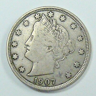 1907 Vf Liberty Nickel,  Free Shipping