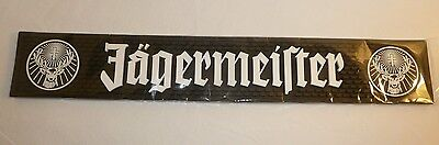 NEW - Black and White Jagermeister Bar Spill Mat - Jager Stag Logo Rubber