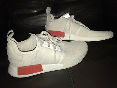 sports shoes 3d0be 15448 ADIDAS NMD R1 # B37619 Off White Red Men Size 13