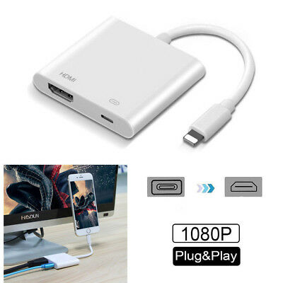 Lightning to Digital AV TV HDMI Cable Adapter For iPhone XS MAX 8 7  iPad Pro