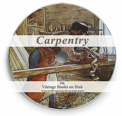 200 Books on DVD - Carpentry Woodwork Lathe Turning Guides Carving Hand Tools 58