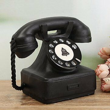 Vintage Style Rotary Dial Telephone Imitation Retro Phone - UK Stock