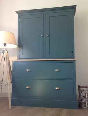 New Solid Pine 4ft Welsh Dresser Kitchen Unit Cabinet Painted Shabby Chic