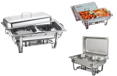 2 Pans Chafing Dish Set 8.5L Stainless Steel Party Cater Food Warmer Fuel