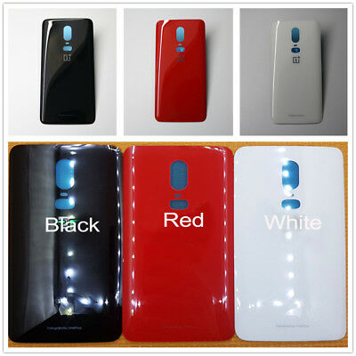 Replace For Oneplus 6 1+6 Parts Rear Panel Housing Glass Battery Back Door Cover