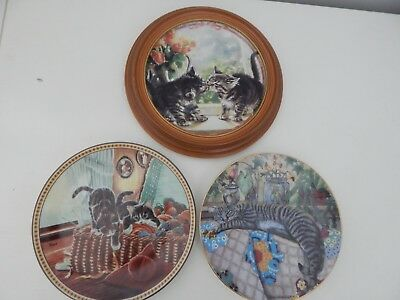 Decorative Collectable Cat Kitten Plates Misc. Lot of 3
