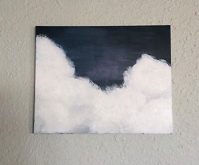 """Acrylic Painting On Canvas Cloud Nature Ready To Hang 16x20"""" Wall Decor Original"""