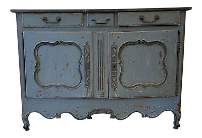 French Antique Two Door Painted Walnut Buffet - 18th C