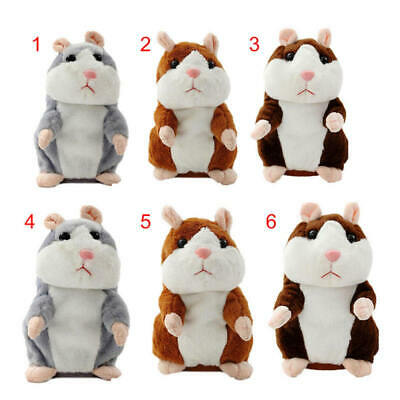 Talking Hamster Mouse Pet Plush Toy Cute Speak Sound Record for Child Kids sdfsf