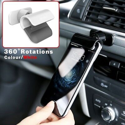White Interior Gravity Car Phone Holder 4-7 Inch Mounts Stand For iPhone Samsung