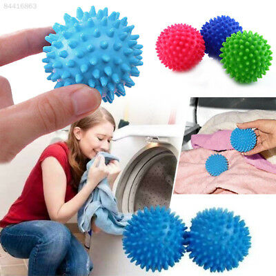 1CEA Plastic Faster Dryer Balls No Chemical Laundry Soften Fabric Wash Clothes C