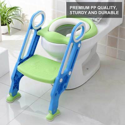 New Baby Toddler Kids Safety Potty Training Toilet Step Ladder Loo Seat Trainer