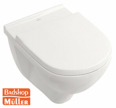 Villeroy & Boch O. Novo Combi-Pack Set Spülrandlos mit WC Sitz Soft Close V&B