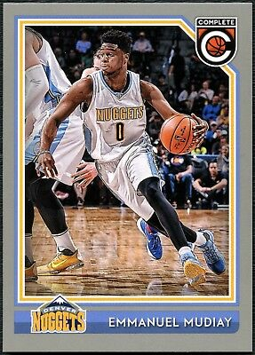 Emmanuel Mudiay Nuggets #230 Complete Basketball 2016 Silver Parallel Card C2287
