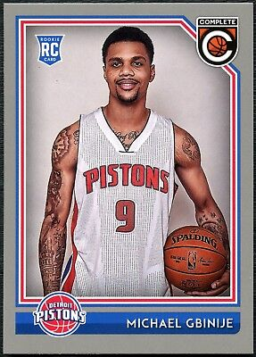 Michael Gbinije Pistons #270 Complete Basketball 2016 Silver Parallel Card C2287
