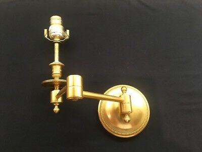 French Antique Vintage Gilt Bronze Swing Arm Wall Sconce by Arts & Style France