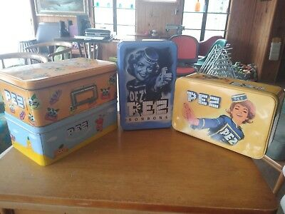 Vintage Pez Candy Tin Box Vintage Lot