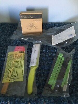 Pampered Chef Nylon Panini Spatula, Infuser, Tie It, Coated Util. Knife, Scraper