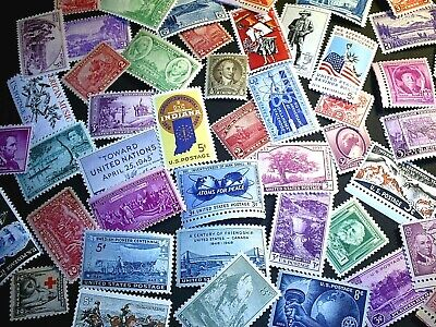50 to 80 YEAR OLD US Mint Vintage Postage Stamp Collection in Glassine Envelopes