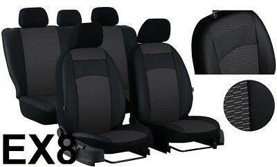 """LAND ROVER FREELANDER Mk1 5 DOOR LEATHER & FABRIC """"ROYAL"""" TAILORED SEAT COVERS"""