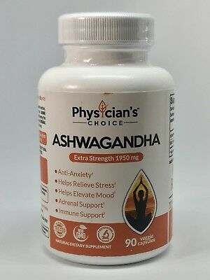Organic Ashwagandha 1950mg - Anxiety Relief, Thyroid Support, Cortisol & Adrenal