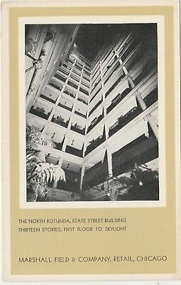 Chicago Illinois IL Marshall Field North Rotunda Postcard White Border