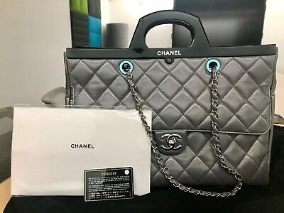 7e6db8659476 CHANEL CC DELIVERY Large Shopping Tote Bag - Gray - $3,500.00 | PicClick
