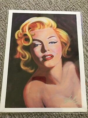 MARILYN MONROE Print By Shakor 8.5 x 11 Artwork Reproduction Signed by Artist