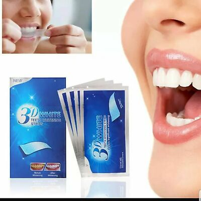 3D Teeth Whitening Strips Professional Effects Home Kit Bleaching Gel Powder  UK