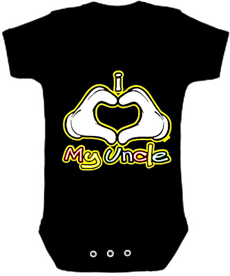 UNCLE New Born Romper Bodysuits  Baby Jumpsuits One Piece I LOVE MY UNCLE