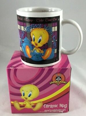 "Tweety Bird Tea/Coffee Cup/Mug ""World's Greatest Mom Ever"" NEW Boxed"