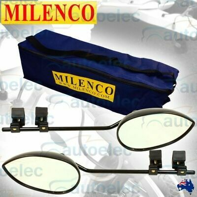 Milenco Aero 3 Towing Mirror Extra Wide Xxl Universal Multi Fit Caravan Trailer