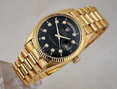 VINTAGE ROLEX PRESIDENT DAY-DATE 18K GOLD 1803 OYSTER AUTO CHRONOMETER 1970's
