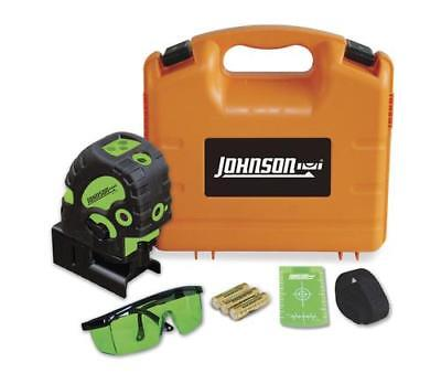 Johnson Self-Leveling Combination Laser 40-6688 Green Cross Line Red Dot Laser