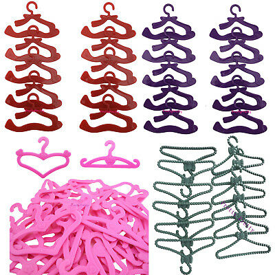 Pink Grey Red Purple Bowknot Plastic Hanger For 12 in. Doll Clothes Dress Acces