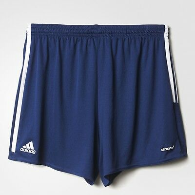 Womens Adidas REGISTA 16 Drydye ClimaCool 3 Stripes Navy White Shorts SIZE S - L