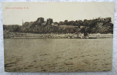 1919 Postcard Ferry At Pembina North Dakota #22